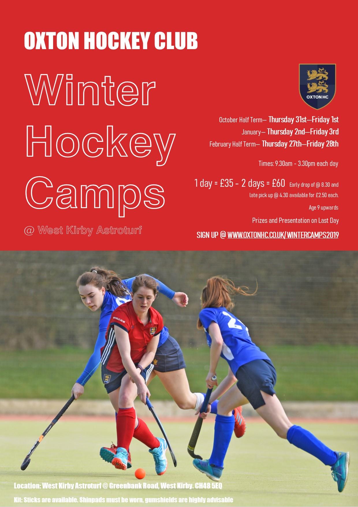 Oxton HC Winter Hockey Camps